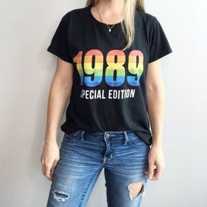 1989 SPECIAL EDITION rainbow colors graphic tee